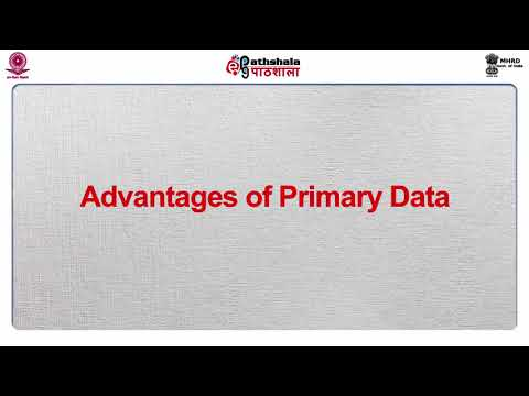 Sources of Data: Primary Data