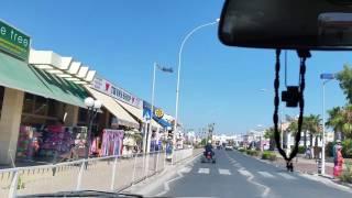 Driving into Ayia Napa