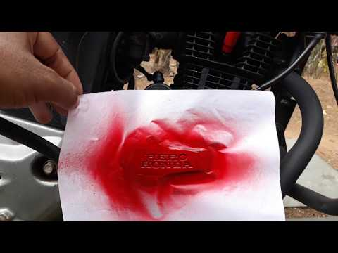 HOW TO SPRAY PAINT COMPANY'S ENGRAVED NAME ON YOUR MOTORCYCLE'S ENGINE