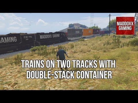 GTA 5 | Double-stack rail transport | Trains on two tracks | 1440p 60 Fps | MaddoxxGaming