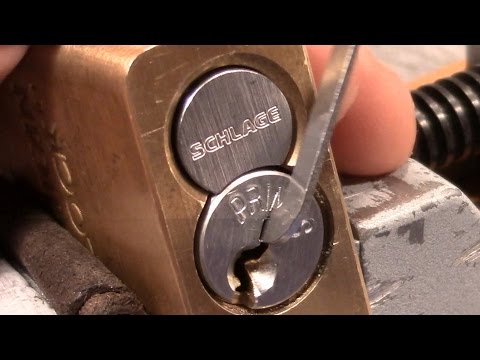 (picking 208) SCHLAGE PRIMUS with sidebar picked, gutted and explained, big thanks to 'Luckes Locks'