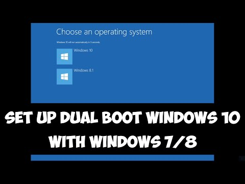 Set up dual boot Windows 10 with Windows 7 or 8