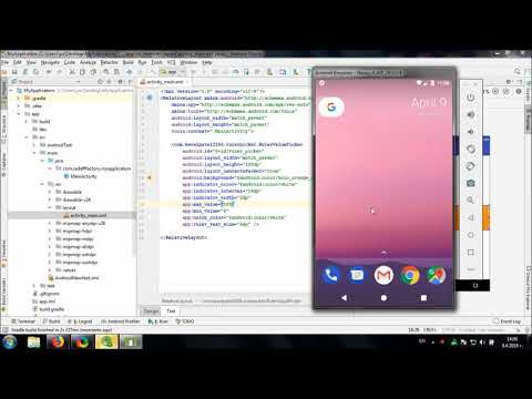 Using Android Ruler Picker library in Android Studio