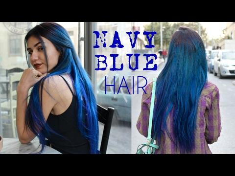 DYEING MY HAIR NAVY BLUE   Metallic Long Blue Hair   Stella