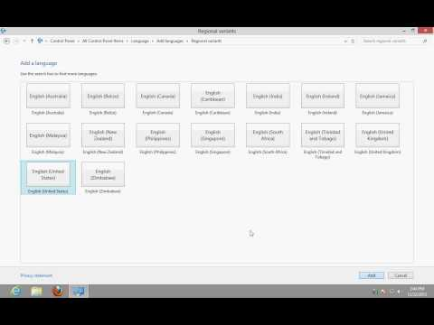How to install a language pack and change the Windows 8 Display Language