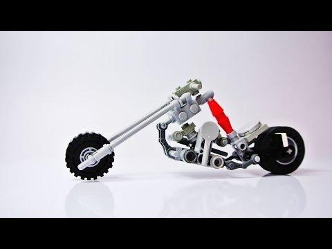 Long Fork Chopper (Small Lego Motorbike - MOC)