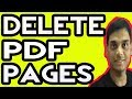 How To Remove or Delete Pages From a PDF   Hindi