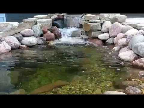 How To Build A Pond In Your Backyard Using Stone And River Rock.
