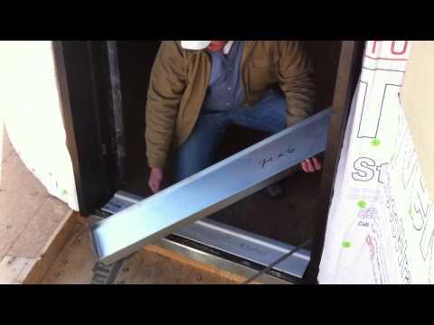 Waterproofing the door threshold