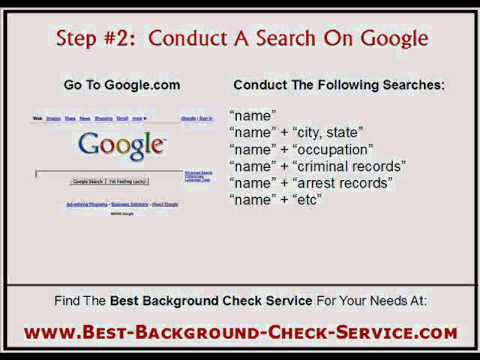 Free Background Checks Online:  How To Do Background Checks For Free!