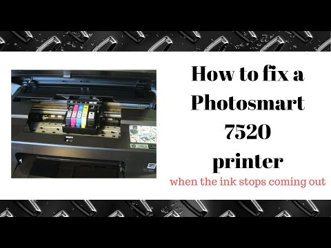 How to fix a HP Photosmart Printer 7520, not printing black ink and missing colors