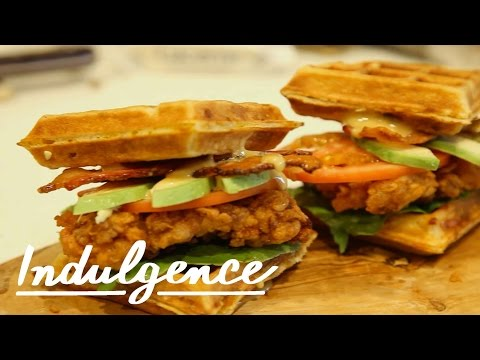 How to Make a Fried Chicken Waffle Sandwich