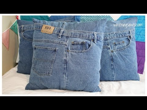 Upcycled Denim Pillow Shams How to | Whitney Sews