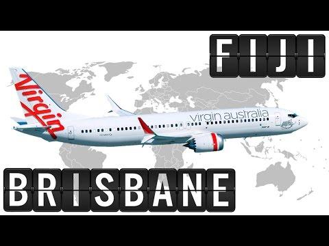 B737 Flight Timelapse from FIJI [NAN] to BRISBANE [BNE] 2800km