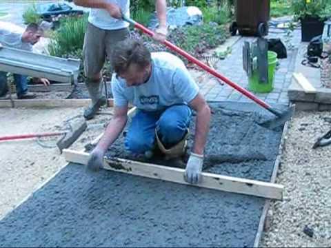 Concrete Driveway installed http://www.mohscrete.com