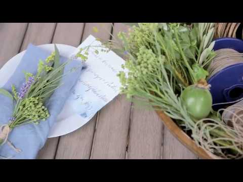 Individual Floral Place Settings from Athena Calderone for Pottery Barn
