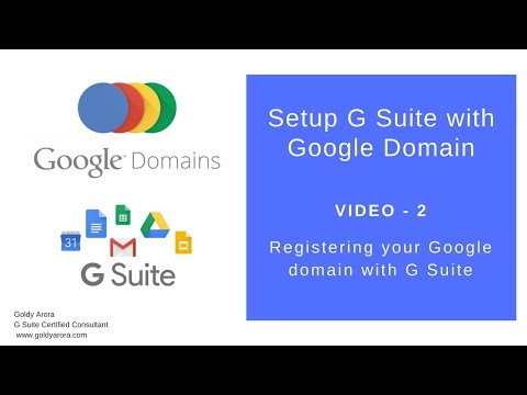 How to register G Suite with Google Domain