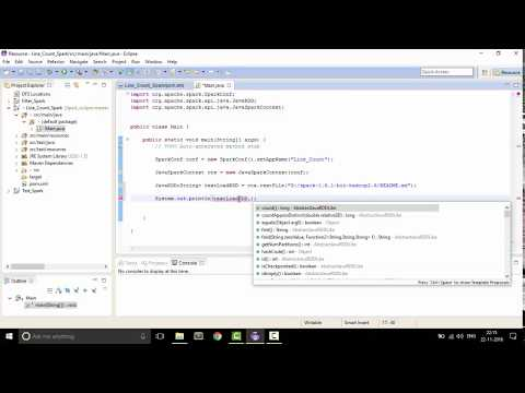 Setup Apache Spark in eclipse JAVA, Maven Developing Spark Java Applications