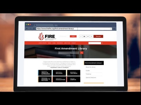 FIRE.org's First Amendment Library [MIRROR] - Know your rights!
