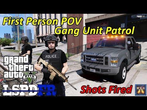 Los Santos Ghetto Gang Unit Patrol   First Person POV  GTA 5 LSPDFR Episode 319