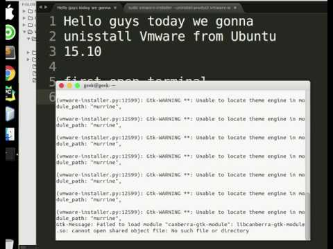 How to uninstall Vmware workstation  from linux ubuntu 15 10