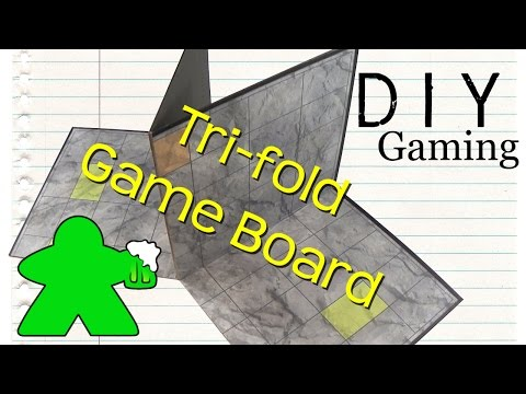DIY Gaming - How to Make a Tri-fold Gameboard