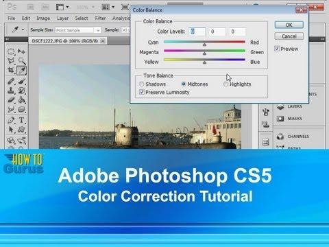 Adobe Photoshop CS5 Color Correction Tutorial - How to use Photoshop Color Balance Adjustment Tool