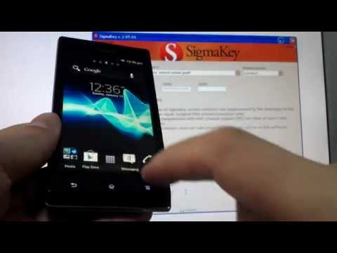 ST21i Xperia Tipo repair IMEI with Sigmakey