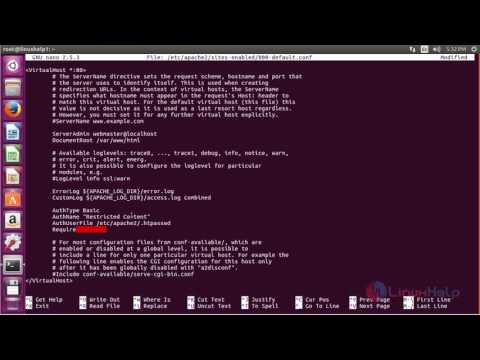 How to Setup Password Authentication with Apache in Ubuntu