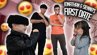 I PUT MY LITTLE BROTHER ON HIS FIRST DATE! **Jonathan & Sienna Finally Meet**