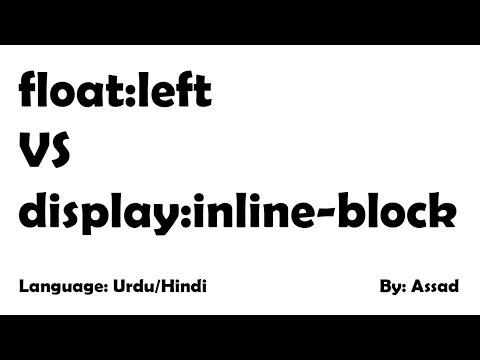 Float left vs inline-block in Urdu/Hindi