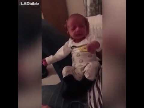 1 week old Baby Is The King Of Dab - Baby Sneezing Is Too Funny