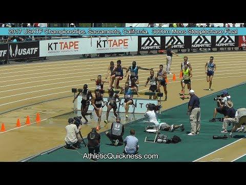2017 USATF Championships. Sacramento, CA. Men's 3000m Steeplechase Final. short version