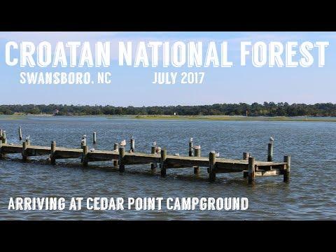 Croatan National Forest | Arriving at Cedar Point Campground | Wandering Around In Wonder