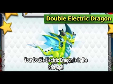 Double Electric Dragon in Dragon City 1 Year Anniversary