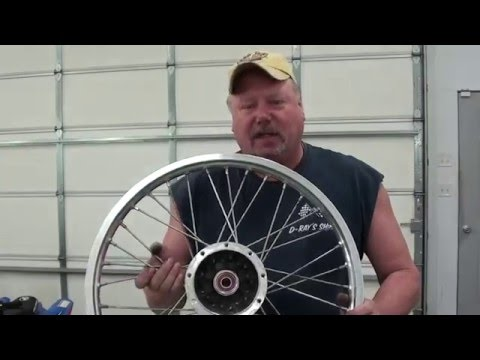 Pt.2 How To Lace And True A Motorcycle Wheel At D-Ray's Shop