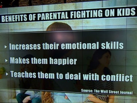 Can it be healthy for parents to fight in front of their kids?