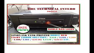 epson printer service required solution, red light blinking solution