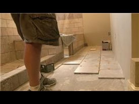 Bathroom Tiling : How to Install 12 x 12 Tiles on Bathroom Floor