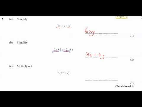 11x-Ma3 - Homework - Simplifying Expressions - Q2