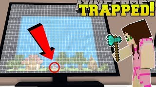 Minecraft: TRAPPED INSIDE A COMPUTER SCREEN!!! - ROOM OF BUTTONS - Custom Map