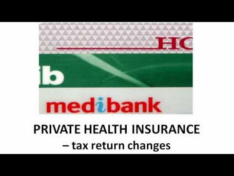 Private Health Insurance Tax Return Changes 2013
