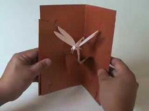 Kirigami Dragonfly - Easy to Make Kirigami Pop-up Card