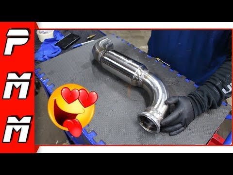 Making a new v-band downpipe for the 1JZGTE Supra