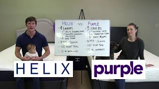 Helix Mattress vs Purple Mattress Comparison 2017