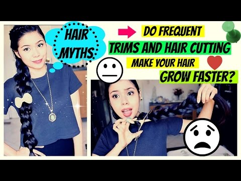 HAIR MYTHS- DO FREQUENT TRIMS MAKE YOUR HAIR GROW FASTER?  PROMOTES HAIR GROWTH?