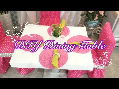 DIY American Girl Doll Dining Table