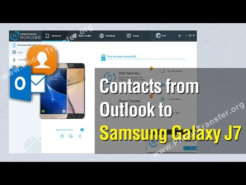 How to Import Contacts from Outlook to Samsung Galaxy J7