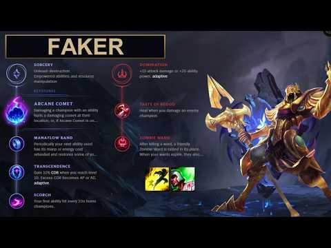 SKT Faker Build Azir - New Runes Season 8 solo vs Xerath (League of Legends Guide)