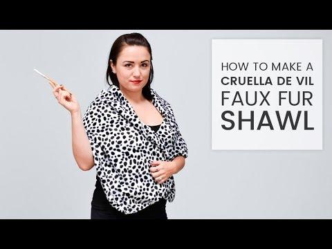 How to Make a Cruella de Vil Faux Fur Shawl